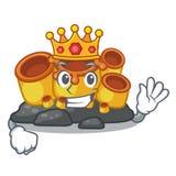 King orange sponge coral in shape mascot royalty free illustration