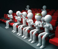 King and other people applause theatre performance. 3d high quality render Stock Photography