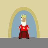 King outside his castle royalty free stock photo
