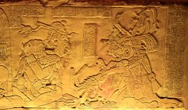 King Pakal in ancient Mayan ruins of Palenque. Stock Photography