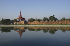 King Palace in Mandalay, Myanmar (Burma) Royalty Free Stock Images