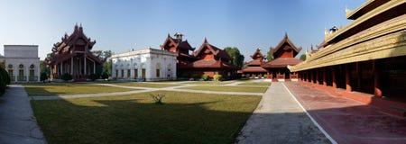 King Palace in Mandalay Panorama, Myanmar (Burma) Stock Photos