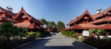 King Palace in Mandalay Panorama, Myanmar (Burma) Royalty Free Stock Image