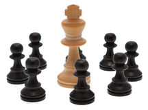 King with pawn Royalty Free Stock Images