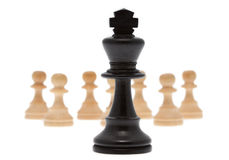 King with pawn Royalty Free Stock Photo