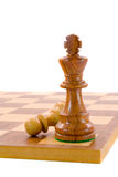 King and pawn. Chess pieces Royalty Free Stock Photo