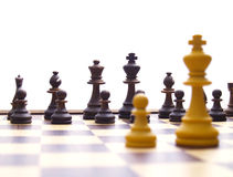 King and pawn Stock Image