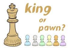 King of pawn Stock Image