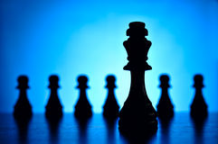 King and pawn chess pieces Stock Photos