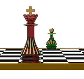 King and Pawn, 3d render Stock Images