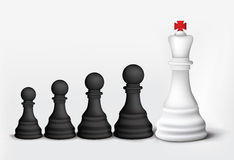 King and Pawns Stock Image