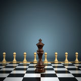 King with pawns Stock Photography