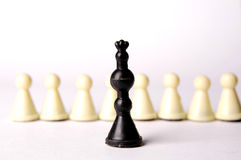 King and pawns Stock Photos