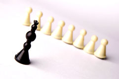 King and pawns Royalty Free Stock Photo