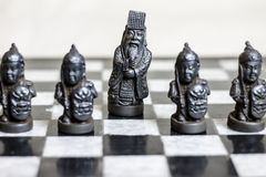 Chess game, close up. stock image