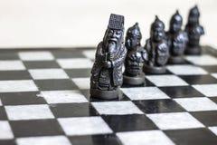 Chess game, close up. stock photos