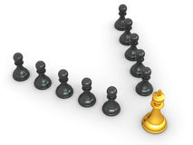 King and pawns. Leadership Stock Image