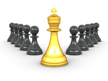King and pawns. Leadership Stock Photo