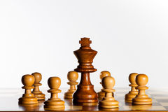 King and pawns Stock Images