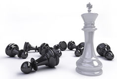 King and pawns Royalty Free Stock Images