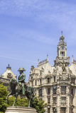 King Pedro IV statue Porto, in Porto, Portugal. Royalty Free Stock Photography