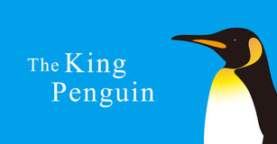 King Penguin standing watch up, Penguin seed series. Vector illustration Royalty Free Stock Images