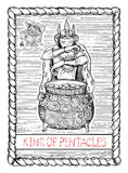 King of pentacles. The tarot card. Royalty Free Stock Images