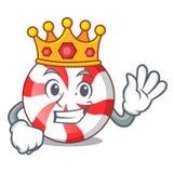 King peppermint candy mascot cartoon. Vector illustration vector illustration