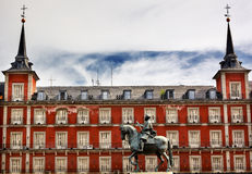 King Philip III Equestrian Statue Plaza Mayor Madrid Spain Royalty Free Stock Photography