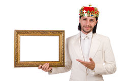 King with picture frame Royalty Free Stock Images