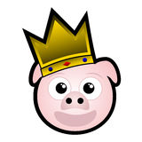 King pig Royalty Free Stock Photo