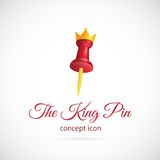 King pin abstract vector symbol icon Stock Images