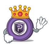 King Pivx coin mascot cartoon. Vector illustration Royalty Free Stock Image