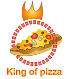 King of pizza logo design Stock Photos