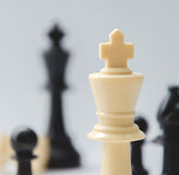 The king - plastic chess pieces, white background Stock Photo