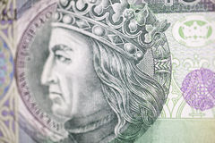 King of Poland on the hundred bill Royalty Free Stock Photos