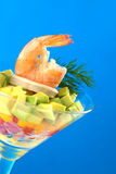 King Prawn Appetizer Royalty Free Stock Images