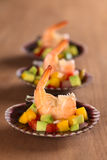 King Prawn Appetizer Stock Photos