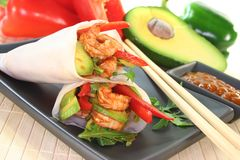 King Prawn - Avocado Wrap Stock Photos