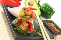 King Prawn - Avocado Wrap Royalty Free Stock Photography