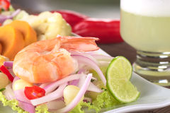 King Prawn Ceviche Royalty Free Stock Photo
