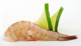 King Prawn with Lime Royalty Free Stock Photo