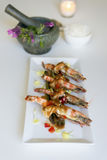 King prawn with Tamarind sauce. From Thai cuisine Stock Image