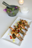 King prawn with Tamarind sauce. From Thai cuisine Royalty Free Stock Photos