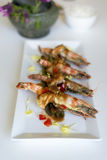 King prawn with Tamarind sauce. From Thai cuisine Royalty Free Stock Images
