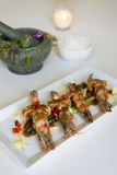 King prawn with Tamarind sauce. From Thai cuisine Royalty Free Stock Image