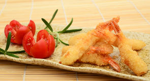 King prawns appetizer Stock Photos