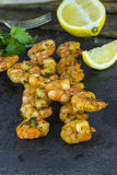 King prawns on skewers Royalty Free Stock Photography