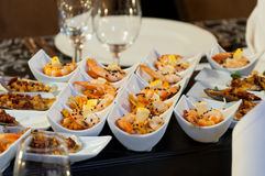 King prawns starter stock photos