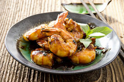 King Prawns Teriyaki Royalty Free Stock Photo